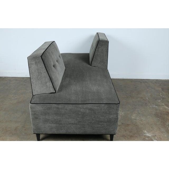 Modern Mohair Double Sided Sofa Chairish