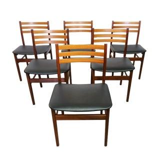 "Danish Modern Teak ""Arne"" Dining Chairs - Set of 6"