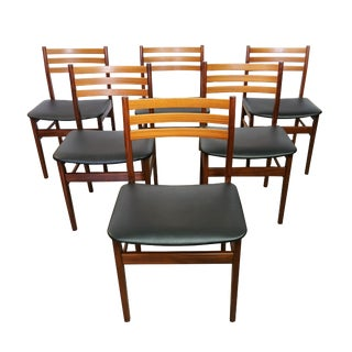 "Danish Modern Teak ""Arne"" Dining Chairs - Set of 6"