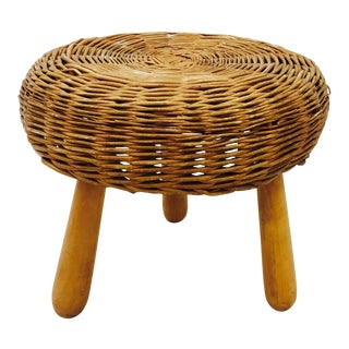Vintage Tony Paul Rattan Stool