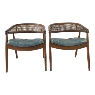 "Mid-Century James Mount ""King Cole"" Lounge Chairs - A Pair"