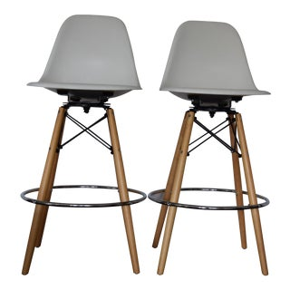 Eames Modernica Swivel Base Barstools- A Pair