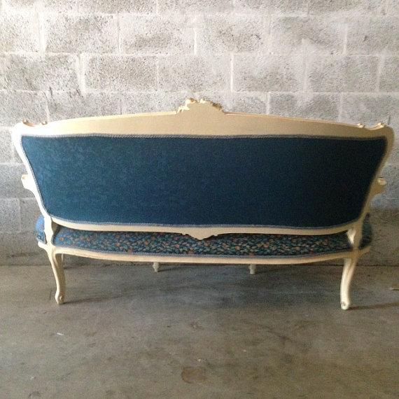 French Settee, Louis XVI Style - Image 5 of 5