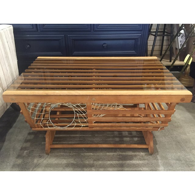 Modern Nautical Lobster Trap Coffee Table - Image 2 of 8