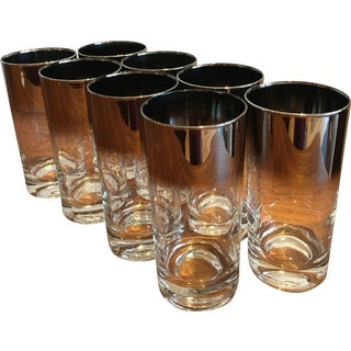 Dorothy Thorpe Vintage Silver Glasses - Set of 8
