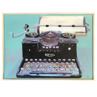 Royal Typewriter Acrylic on Canvas