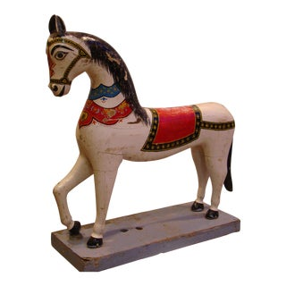 1900 Central Indian Wooden Horse Toy