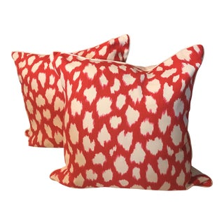 Kate Spade Leokat Maraschino Pink Pillow - A Pair