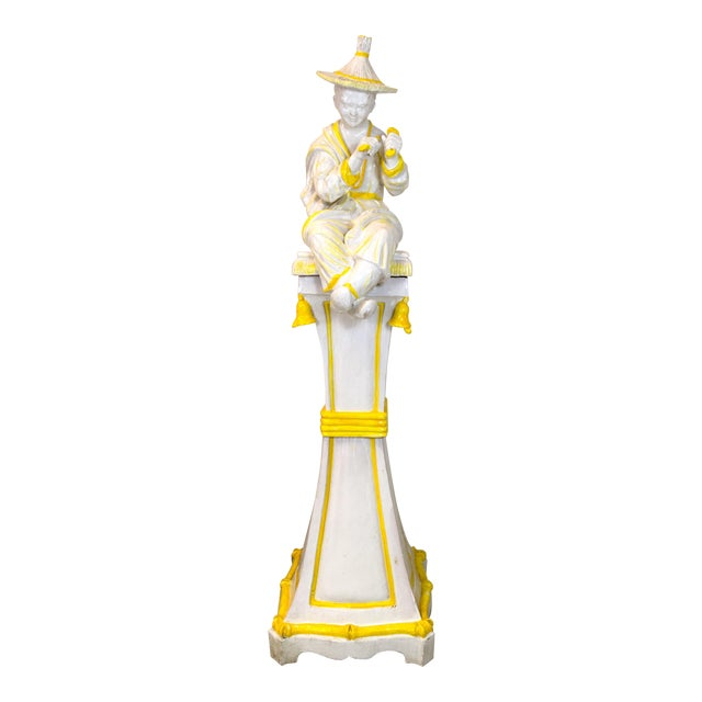 Palm Beach Style Chinoiserie Statue - Image 1 of 7