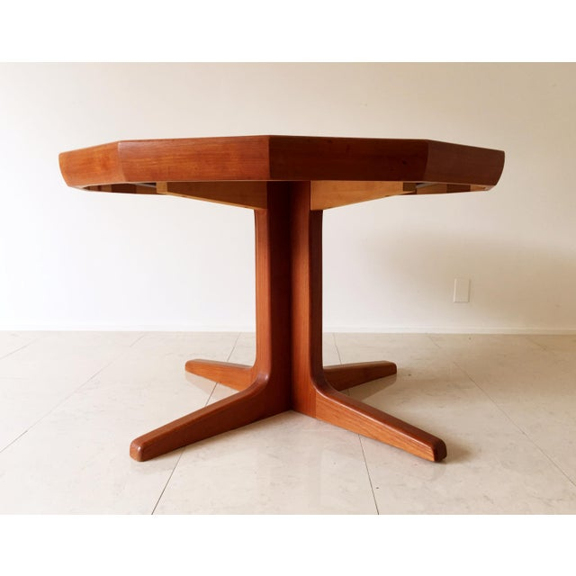 Vintage Danish Teak Extending Dining Table - Image 6 of 8