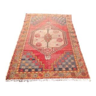 Vintage Anatolian Area Rug - 3′6″ × 6′4″
