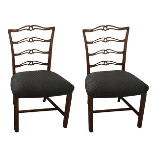 1930s Georgian Style Mahogany Dining Chairs - A Pair