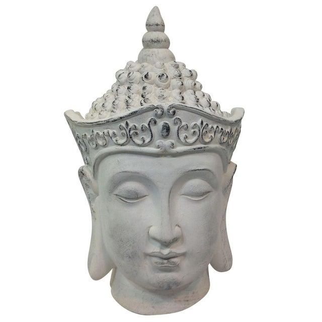 Large Plaster Buddha Head Statue - Image 1 of 4