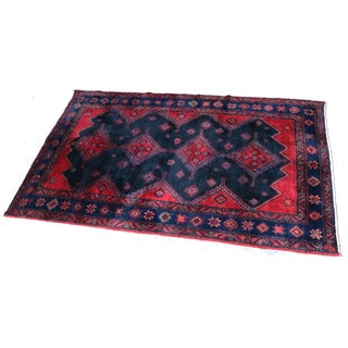 Hand-Knotted Hamadan Persian Rug - 7' x 4'