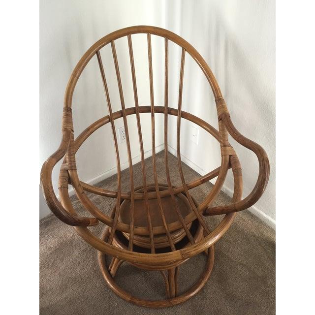 Vintage Rattan Swivel Chair - Image 5 of 10