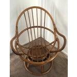 Image of Vintage Rattan Swivel Chair