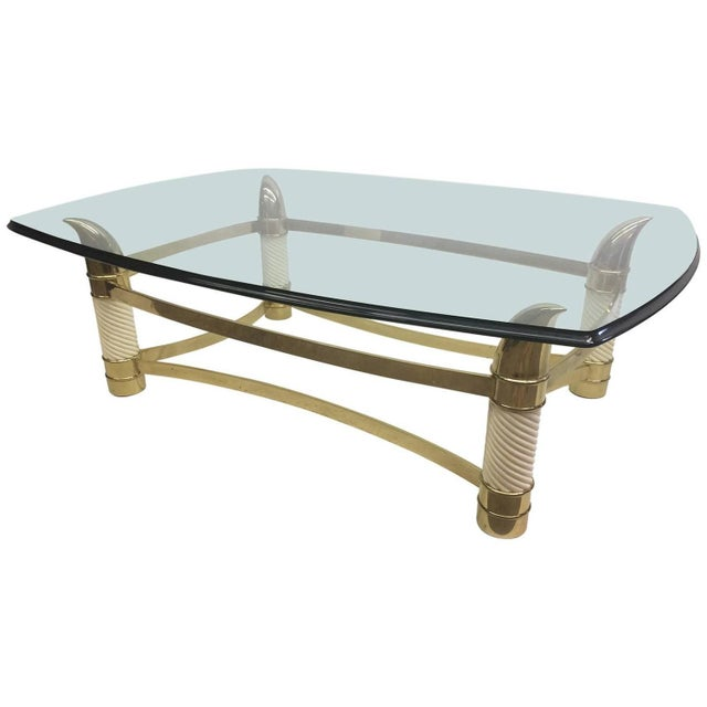 Hollywood Regency Coffee Table by Weiman - Image 1 of 7