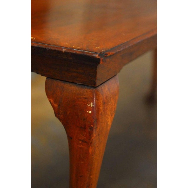 19th Century Queen Anne Revival Walnut Bench or Console - Image 6 of 8