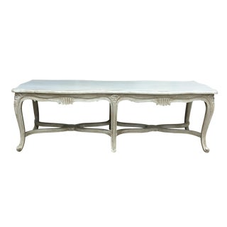 French Louis XV Carved Wood Bench
