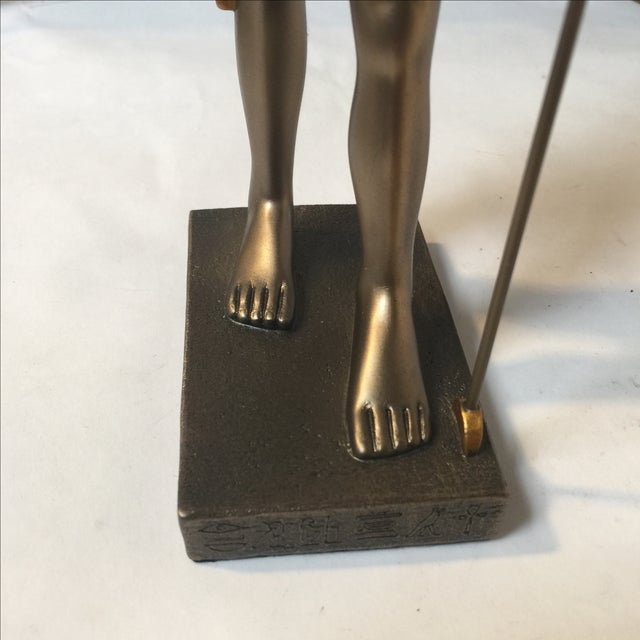 Egyptian Bronze Resin Sculpture - Image 7 of 8