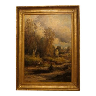 Albert Scott Cox Antique Landscape Painting