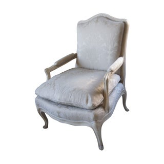 Silver Louis XV Bergere Chair