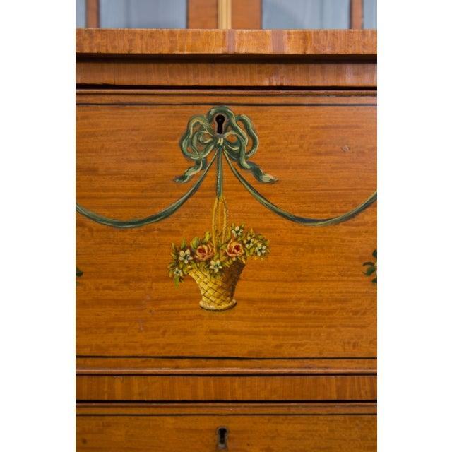 English Adams Style Painted Satinwood Secretary - Image 3 of 10