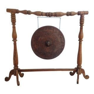 Indonesian Gamelan Gong on Stand