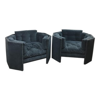 A Pair of Custom Noir Mystic Chairs