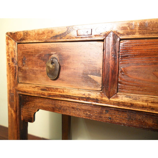 Early 1800s Antique Chinese Ming Desk - Image 5 of 9