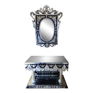 Large Venetian Mirror & Console