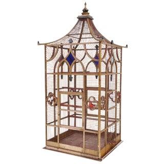 Grand Scaled Gothic Victorian Birdcage, England circa 1870