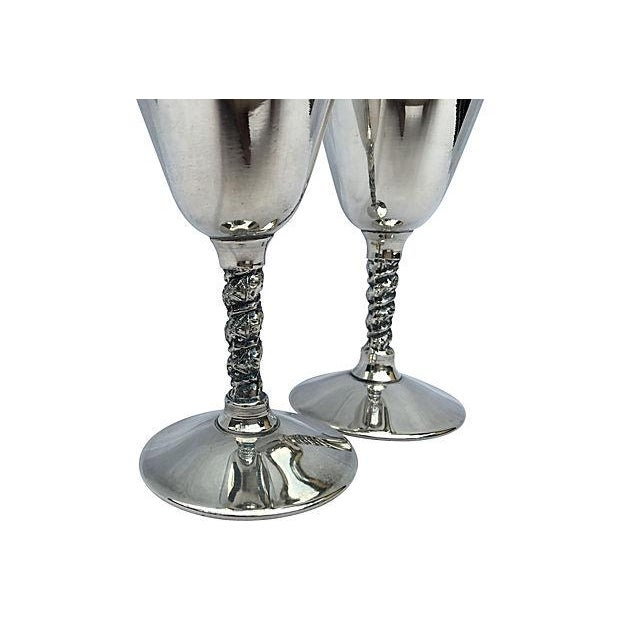 Yugoslavian Silver Plate Goblets - Image 4 of 4