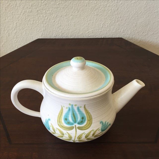 Franciscan Earthenware Mid-Century Floral Teapot - Image 3 of 8