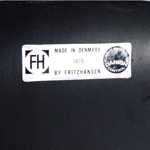 """Image of Arne Jacobsen 1975 Fritz Hansen Black """"Ant Chair"""""""
