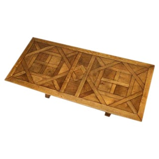 French Style Parquet Trestle Dining Table