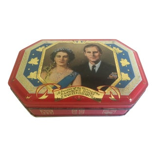 """Queen Elizabeth Souvenir Hobner & Co."" English Candy Tin"