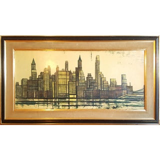 Mid-Century Modern Bernard Buffet 1958 Lithograph New York