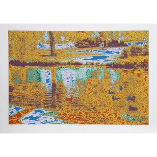 "1980 Max Epstein ""Ducks in a Pond"" Print"