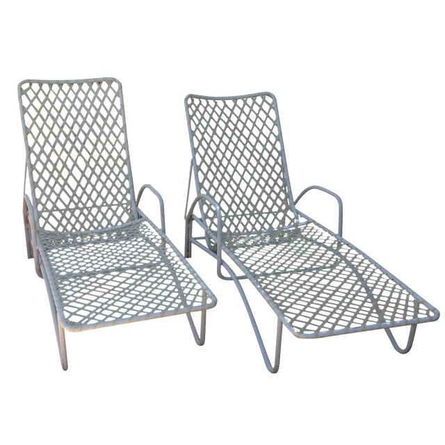 Brown jordan outdoor chaise lounges pair chairish for Brown and jordan chaise lounge