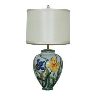 Marbro Hand Painted Porcelain Lamp