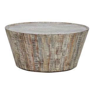 "Reclaimed Barrel Coffee Table 38"""