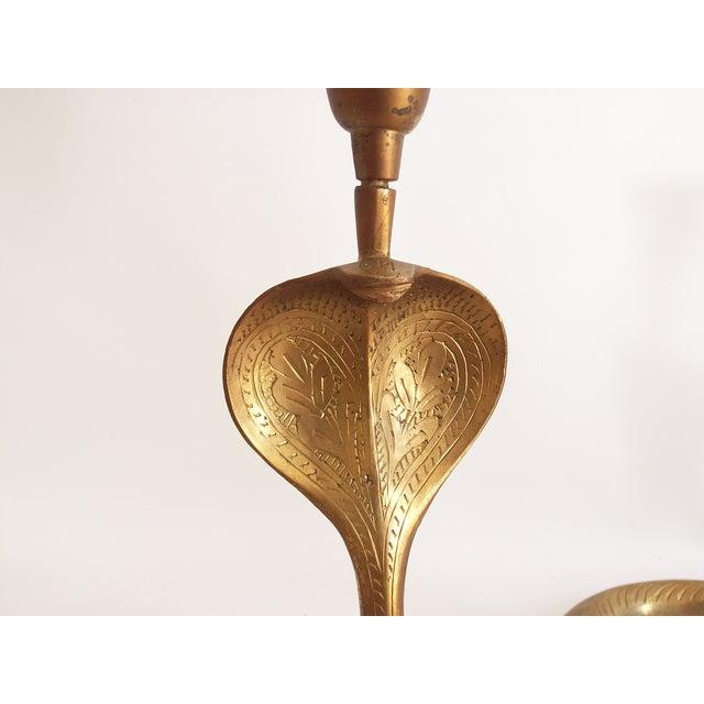 Vintage Brass Cobra Snake Candlesticks - A Pair - Image 9 of 9