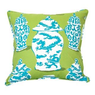 Dana Gibson Dragon Ginger Jar Pillow