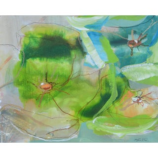 'Green 2' Contemporary Painted Drawing