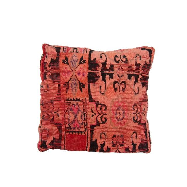 Pink Moroccan Rug Floor Pillow - Image 2 of 2
