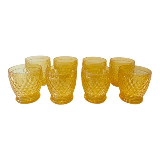 Vintage Villeroy & Boch Yellow Glasses - Set of 8