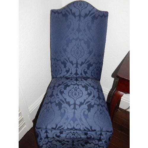 Image of Ethan Allen Mitchell Skirted Chairs - Pair