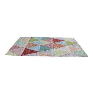 "Colorful Triangle Rug - 94.5"" x 126"""