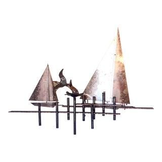 Curtis Jere Brutalist Sailing Sculpture